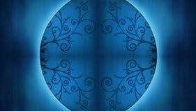 Chinees blauw als achtergrond Stock Fotografie