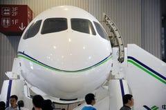 Chinees C919 vliegtuigenhoofd Royalty-vrije Stock Foto