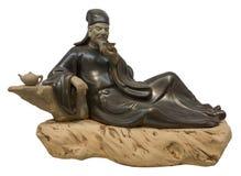 Chinees ceramisch standbeeld Royalty-vrije Stock Foto
