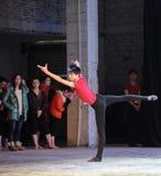 Chinees de kungfu-nationale dans opleiding stock foto