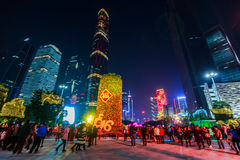 Chinees de lentefestival van 2016 in guangzhou Royalty-vrije Stock Foto