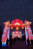 2014 Chinees de markt en de lantaarnfestival van de Nieuwjaartempel Royalty-vrije Stock Foto's