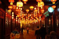 2014 Chinees de markt en de lantaarnfestival van de Nieuwjaartempel Stock Fotografie