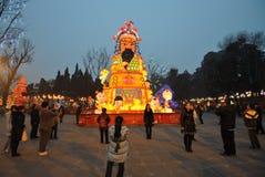 2014 Chinees de markt en de lantaarnfestival van de Nieuwjaartempel Royalty-vrije Stock Afbeeldingen