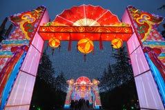 2014 Chinees de markt en de lantaarnfestival van de Nieuwjaartempel Stock Afbeelding