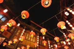 2014 Chinees de markt en de lantaarnfestival van de Nieuwjaartempel Stock Afbeeldingen