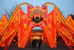 2014 Chinees de markt en de lantaarnfestival van de Nieuwjaartempel Stock Foto's