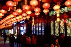 2016 Chinees de markt en de lantaarnfestival van de Nieuwjaartempel in Chengdu Royalty-vrije Stock Fotografie
