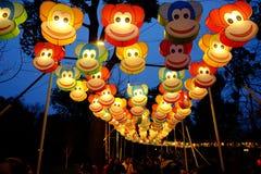 2016 Chinees de markt en de lantaarnfestival van de Nieuwjaartempel in Chengdu Royalty-vrije Stock Foto