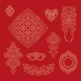 Chinees decoratief patroon 1 Stock Afbeeldingen