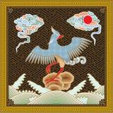 Chinees detailleerde hoog het Traditionele Patroon van Phoenix Stock Fotografie