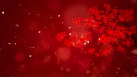 Chinees die Nieuwjaar ook als de digitale de deeltjesachtergrond van het de Lentefestival met Chinees ornament en decoratie voor