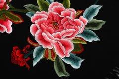 Chinees die stijlpatroon van stoffensjaals wordt gemaakt stock fotografie