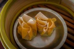 Chinees Dim Sum Shumai (Gestoomde Chinese Bol) Royalty-vrije Stock Fotografie