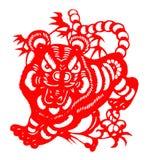 Chinees document dat voor tijgerjaar wordt gesneden van 2010 Royalty-vrije Stock Fotografie