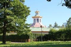 Chinees dorp Alexandrovskypark Pushkinstad stock foto's