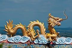 Chinees draakstandbeeld Royalty-vrije Stock Fotografie