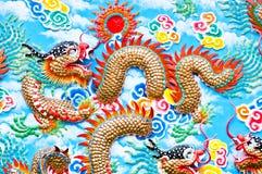 Chinees draakstandbeeld Stock Afbeeldingen