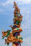 Chinees Draakstandbeeld Stock Foto's