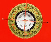Chinees Feng Shui Compass Stock Foto's