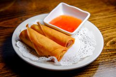 Chinees Fried Spring Rolls stock afbeeldingen