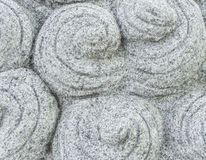 Chinees Gesneden Gray Stone met Rond Slakpatroon Royalty-vrije Stock Foto