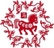 Chinees gestileerd paard als symbool van jaar van 2014 Royalty-vrije Stock Foto's