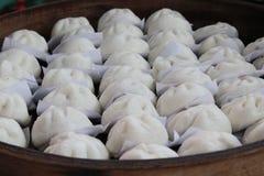 Chinees gestoomd broodje Stock Foto