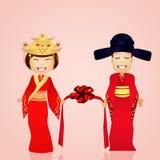 Chinees huwelijk stock illustratie