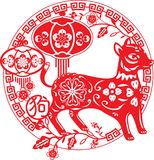 Chinees Jaar van Hondillustratie Stock Foto's