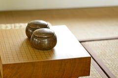 Chinees, Japan, GAAT het Koreaanse raadsspel Ga of wei-chi - traditioneel Aziatisch de raadsspel van WeiQi stock fotografie
