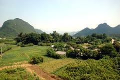 Chinees landschap - QingYuan, Guangdong Stock Afbeelding