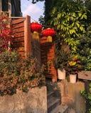 Chinees lantaarnsdecor stock afbeelding