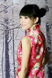 Chinees meisje in de sneeuwscènes Royalty-vrije Stock Foto