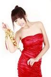 Chinees meisje in nieuw jaar Stock Fotografie