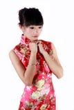 Chinees meisje in traditionele kleding Stock Foto's