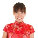 Chinees meisjesgezicht Royalty-vrije Stock Foto