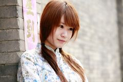 Chinees meisjesportret. Royalty-vrije Stock Foto's
