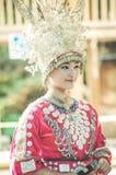 Chinees Miao Actress royalty-vrije stock foto's