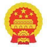 Chinees muntstukpictogram, beeldverhaalstijl Royalty-vrije Stock Afbeelding