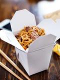 Chinees neemt met slimme telefoon op lijst en menu Royalty-vrije Stock Foto's