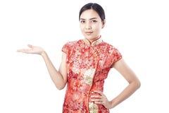 Chinees nieuw jaar Aziatisch meisje Royalty-vrije Stock Afbeeldingen