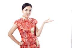 Chinees nieuw jaar Aziatisch meisje Royalty-vrije Stock Fotografie