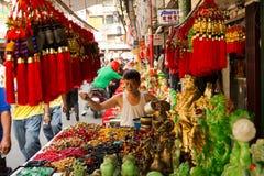 Chinees nieuw jaar in Chinatown, Manilla, Filippijnen Stock Afbeeldingen