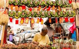 Chinees nieuw jaar in Chinatown, Manilla, Filippijnen Royalty-vrije Stock Foto