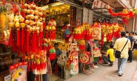Chinees nieuw jaar in Chinatown, Manilla, Filippijnen Royalty-vrije Stock Fotografie