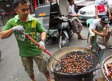 Chinees nieuw jaar in Chinatown, Manilla, Filippijnen Royalty-vrije Stock Foto's