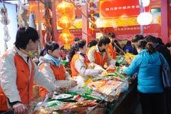 Chinees nieuw jaar dat in chengdu winkelt Royalty-vrije Stock Afbeelding