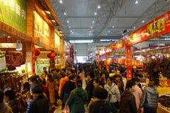 Chinees nieuw jaar het winkelen festival in Sichuan Royalty-vrije Stock Foto's