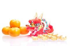 Chinees nieuw jaar met draak Stock Foto's